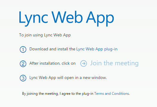 How To Fix the Lync Web App Plugin Error When Joining A Lync
