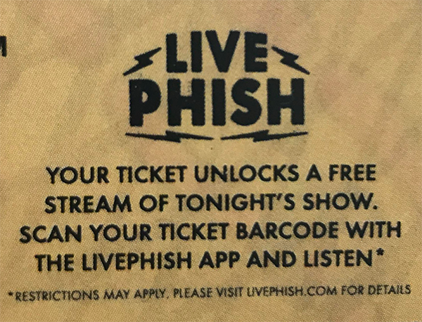 What is my ticket code redeemable for? : LivePhish Customer