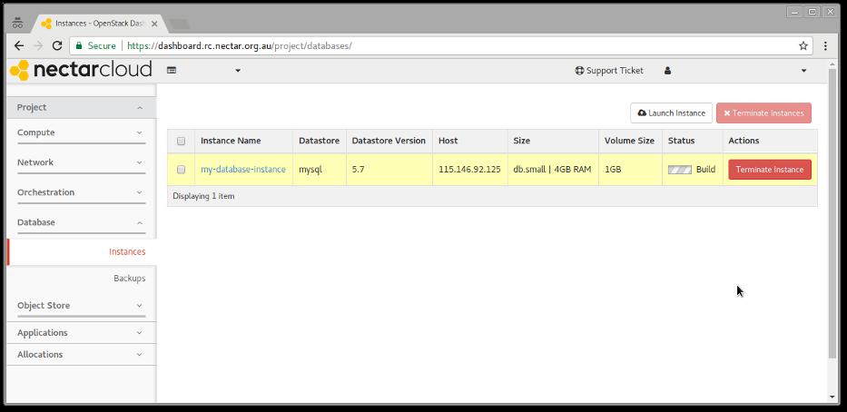 Nectar Database service : eHelp Support