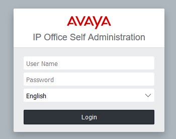 Logging into Avaya IP Office Self Administration : Dataquest Comms