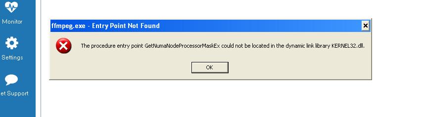 KB | ffmpeg exe - Entry Point Not Found on XP/Vista | Jaksta