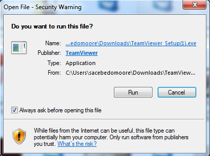 Teamviewer for Remote Users : Information Technology