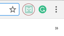 Screenshot of Mailbutler chrome icon