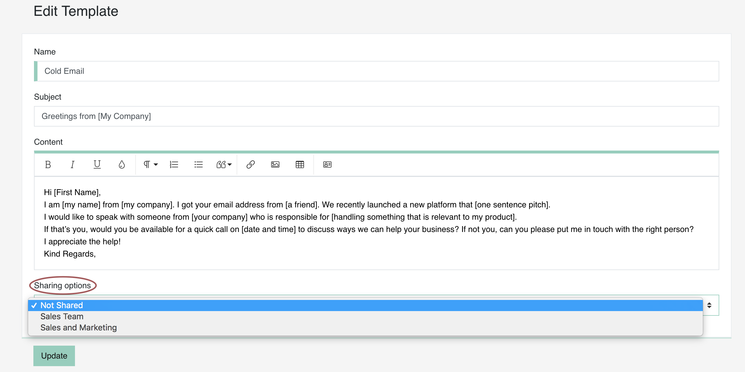 How Can I Create Use And Share A Message Template Mailbutler