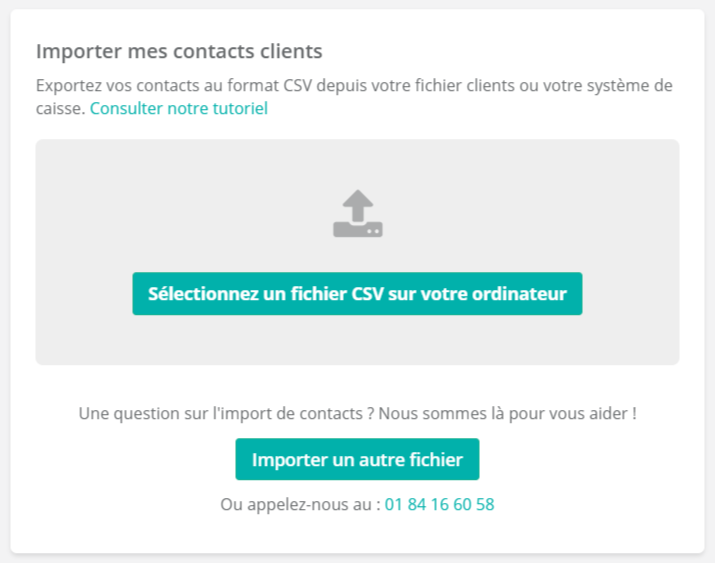 Importer mes contacts clients