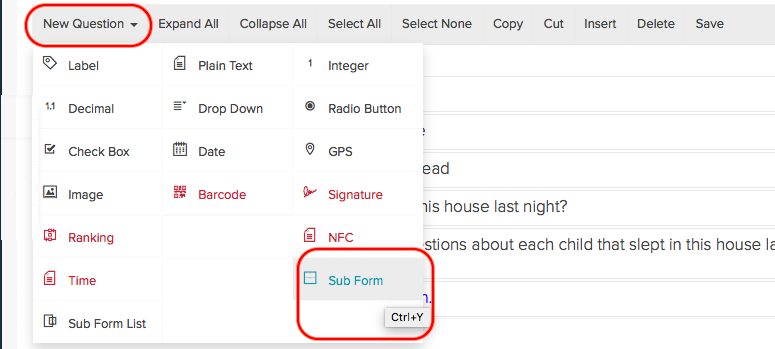 Using Subforms (Pro & Enterprise Users) : Magpi Support