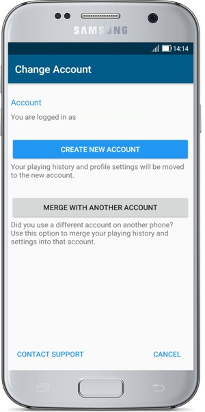 How do I create and change an account in the Golf Pad app? What if I