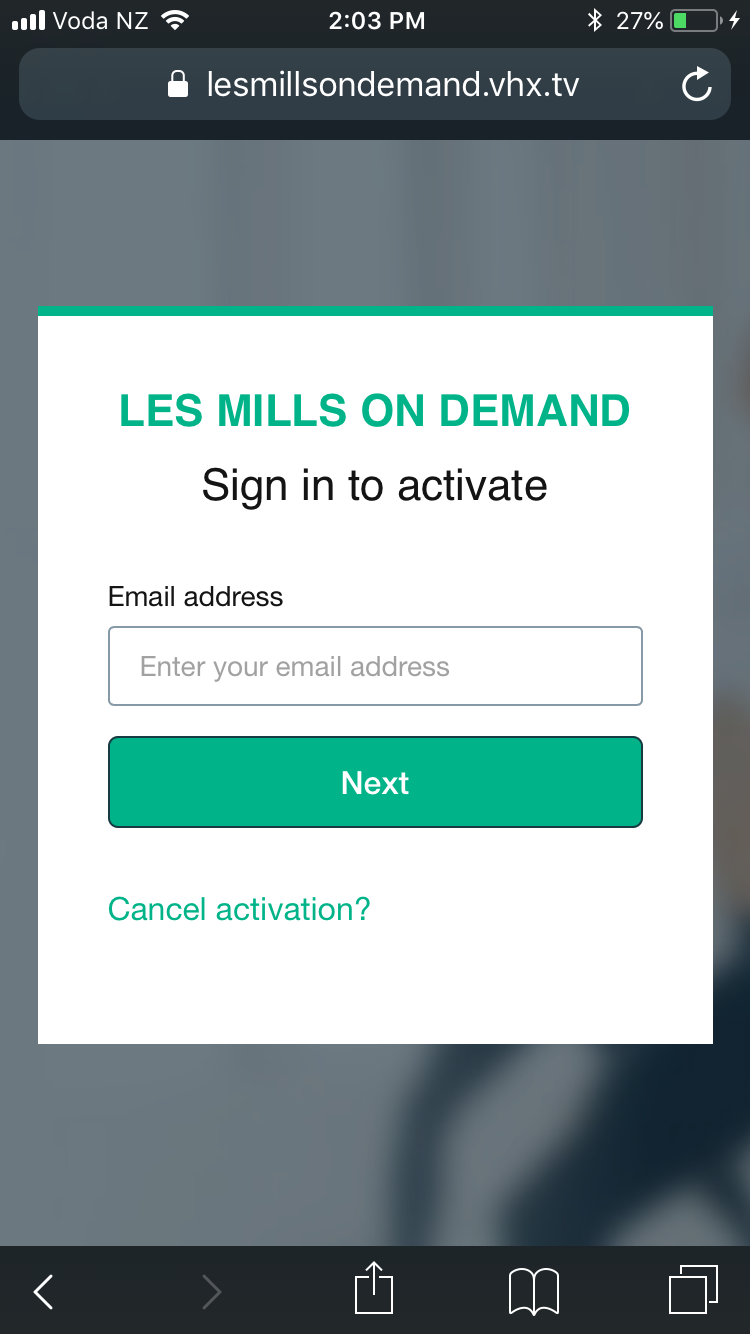 Activating Roku : LES MILLS On Demand Support