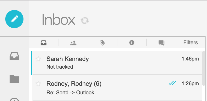 Email Tracking options - track all email opens except your