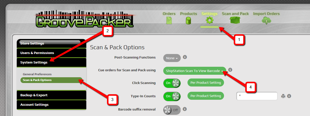 How to cue orders for packing with ShipStation's Scan to