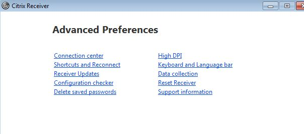 How To Reset Your Citrix Receiver : Information Technology