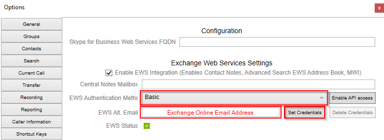 Enabling EWS Connectivity in an Office 365 Exchange Online