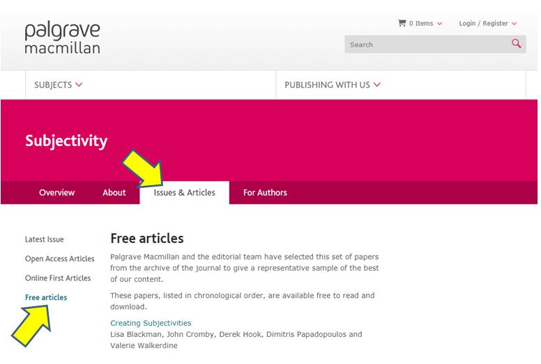 sample free copy Palgrave Macmillan Journal : Springer