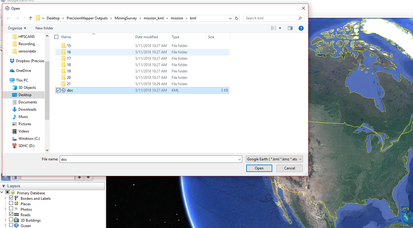 Exporting 2D Outputs : PrecisionMapper Support