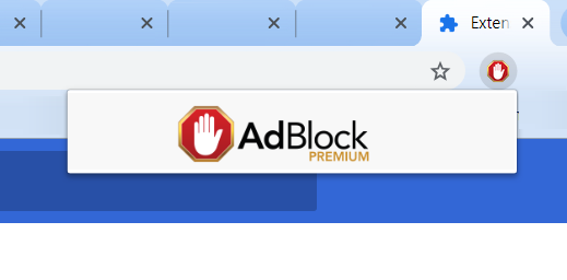 adblock missing from chrome