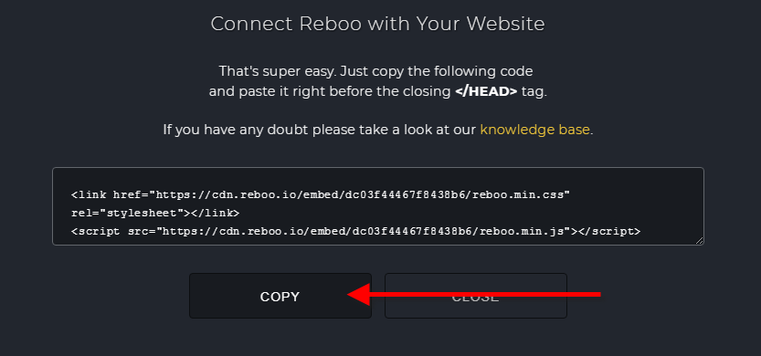 Embedding Reboo to Squarespace : Develvet