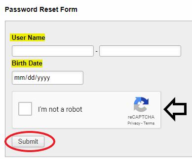 What do I do if I forgot my password? :