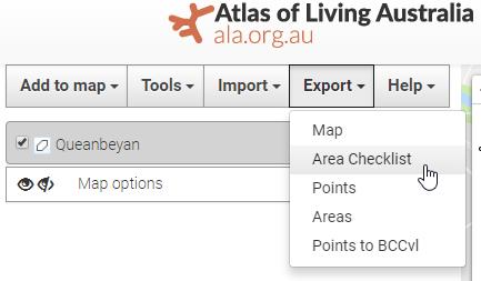Export Checklist : ALA Support