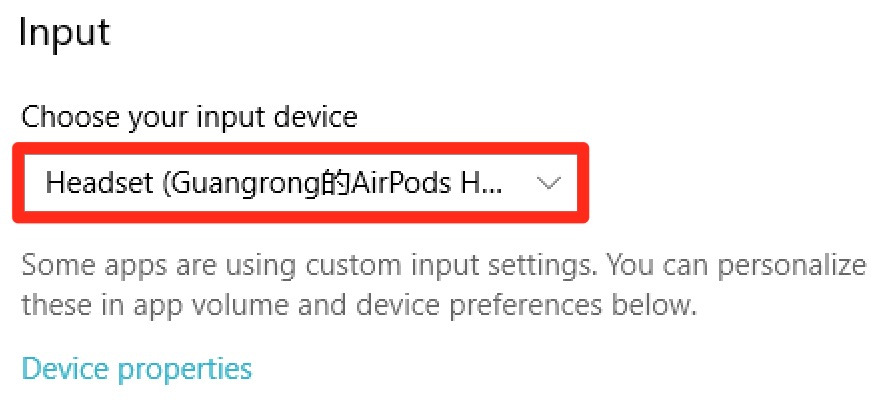 Adjust sound recording settings for Bluetooth headset on
