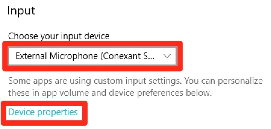 Adjust sound recording setting for Conexant audio driver on Windows