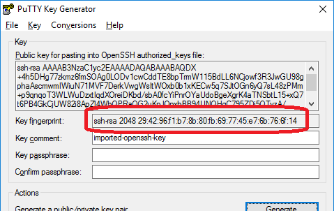 convert putty key to openssh format