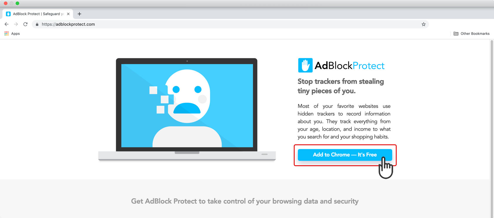 Installing AdBlock Protect, Step 1