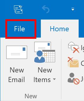 Click Ribbon File Tab