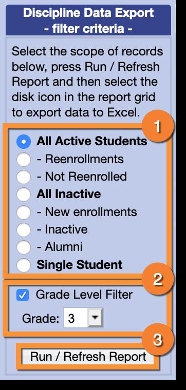 Discipline Data Export : Gradelink Support Community