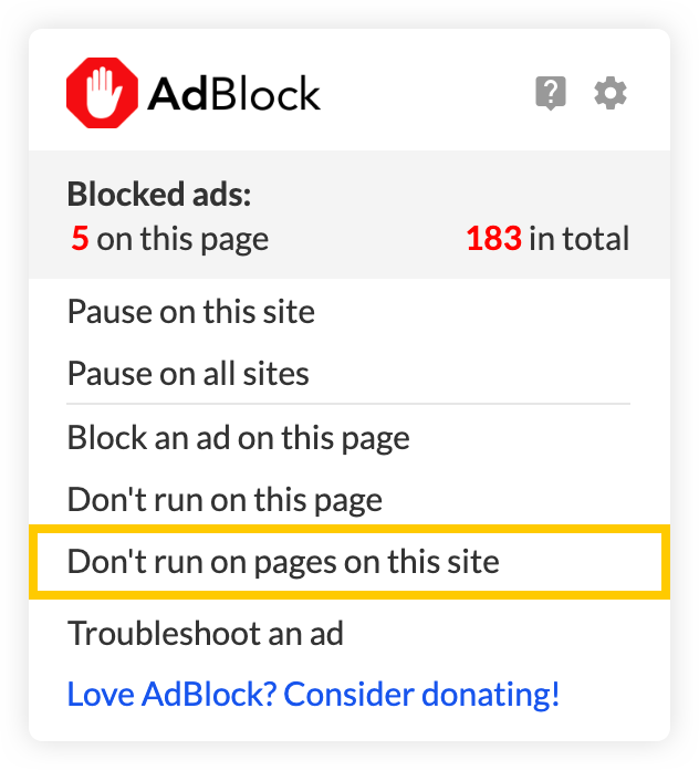 How do I whitelist a specific YouTube channel? : AdBlock Help
