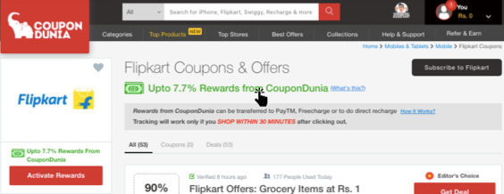 Coupondunia Coupons Cashback Offers And Promo Code