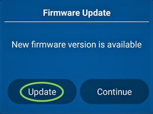 firmware update tap