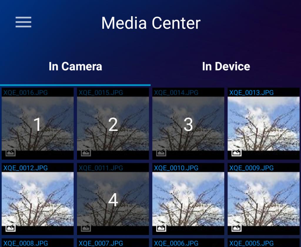 media center multiple selected