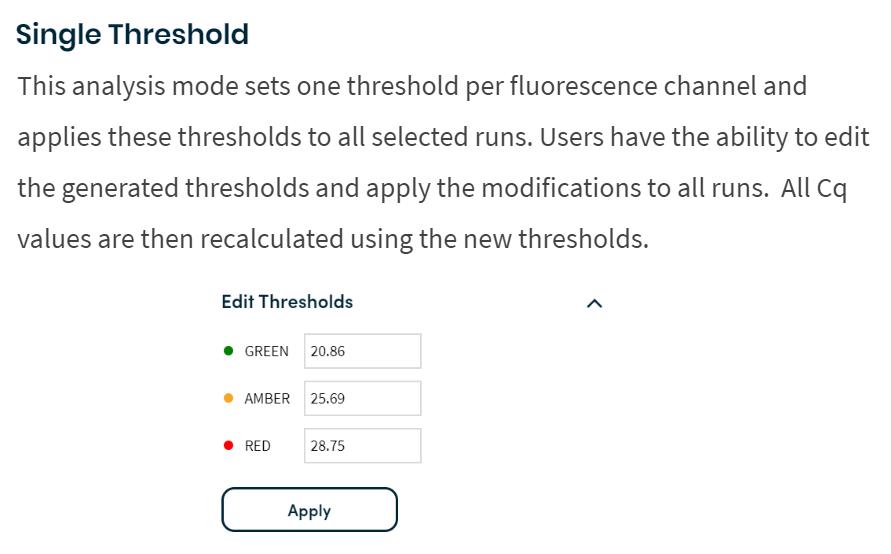 Single Threshold analysis mod