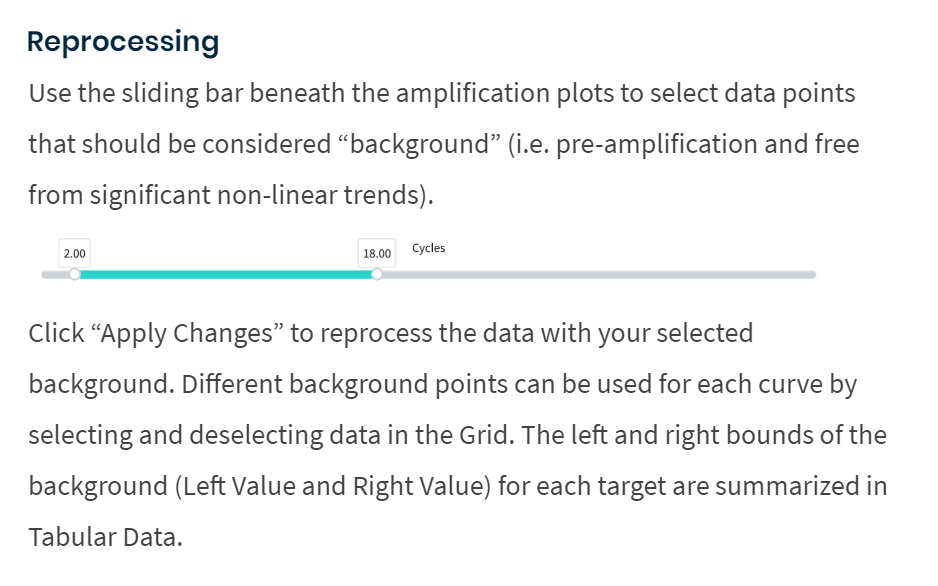 Reprocessing analysis mode