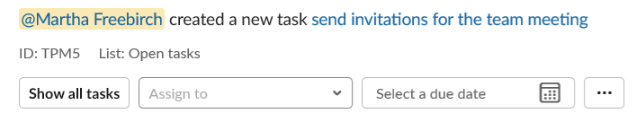 personal to do list in slack task list