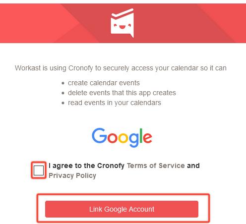 using google calendar and slack