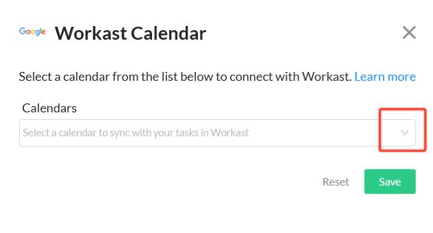 workast calendar