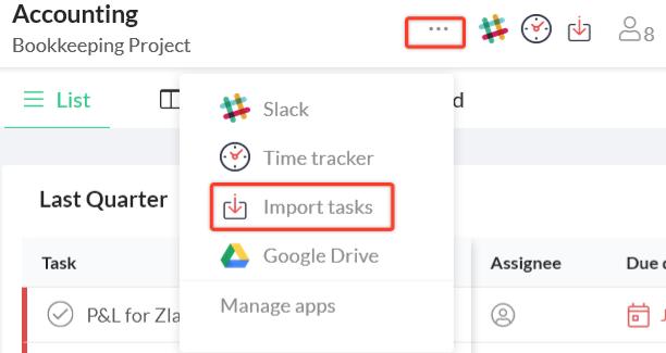 import tasks from trello