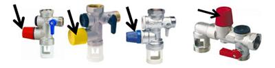 visuel robinets eau chaude purge