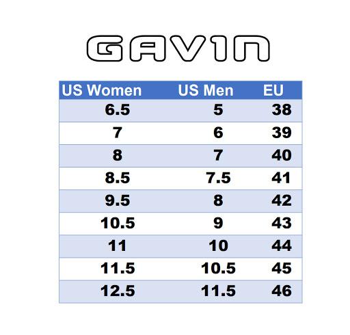 Gavin Shoe Sizing, Cycling Shoes, EU