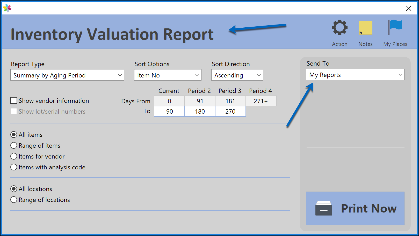 Sample Inventory Valuation to My Reports