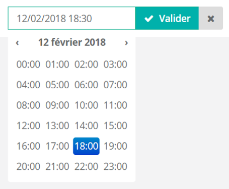 Programmer date et heure