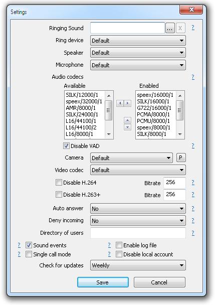 Configuración de captura de pantalla