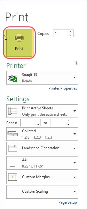 Print Gantt Chart