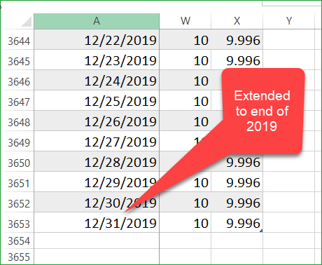 Extended calculations for 10 years