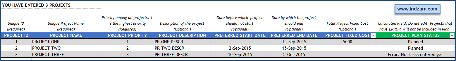 Project Planner (Advanced) Excel Template – Projects