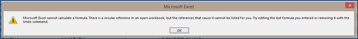 Excel - Circular Reference Error - Project Planning