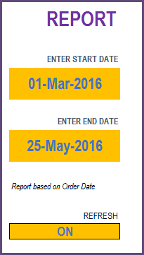 Report - Enter Start and End Dates