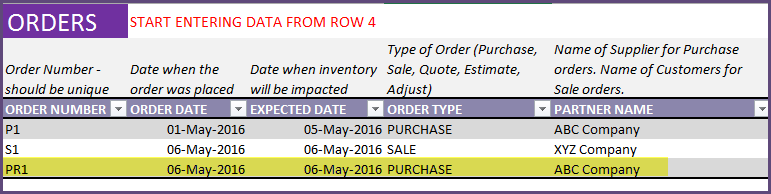 Purchase Order - Return to Supplier