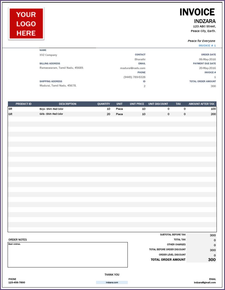 Invoice - Sale Order